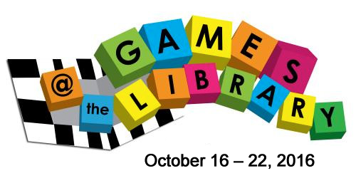 Games at the library logo